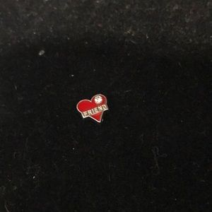Jewelry - Charm for locket.  Friend (Red)